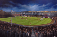 Third Lanark, Cathkin Park, Glasgow   20'' x 30'' Box Canvas Print